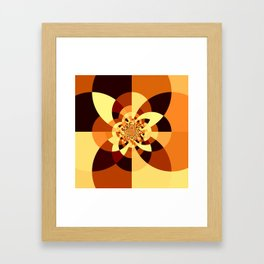 Orange Brown Kaliedoscope Framed Art Print