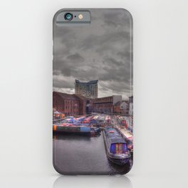 Gas Street Basin - the Canal House at dusk iPhone Case