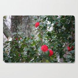 Red Camellia Cutting Board