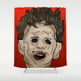 Face of Leather Shower Curtain