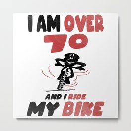 Cyclists With A Present For Over 70 Years Metal Print