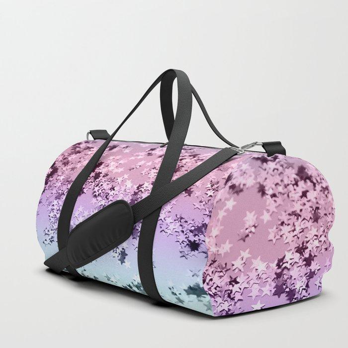 Unicorn Girls Glitter Stars #1 #shiny #pastel #decor #art #society6 Duffle Bag