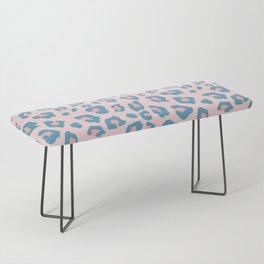 Leopard Print - Peachy Blue Bench