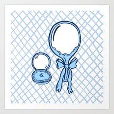 Budoir Blue Art Print