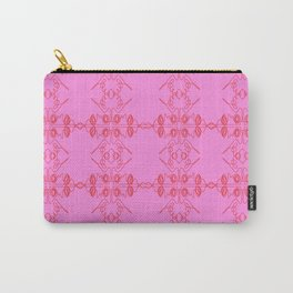 Luxury vint. ornaments Pink ethnic Carry-All Pouch