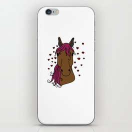 lucky horse mom Riding Horses Mother Present Gift iPhone Skin