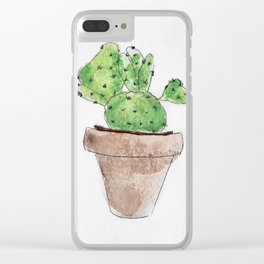 Plants are friends Clear iPhone Case