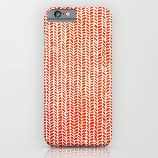 Stockinette Orange Slim Case iPhone 6