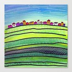 Palouse farm town Canvas Print