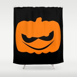 Evil Halloween Pumpkin Silhouette Shower Curtain