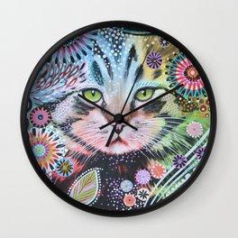 Abstract Cat Art - Penny Wall Clock