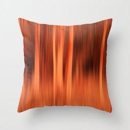 Fiery Forrest Throw Pillow