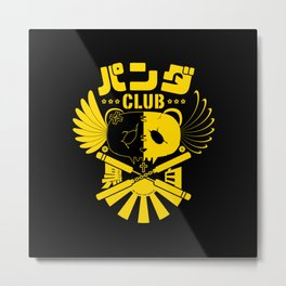 Panda Club Logo Design (Yellow) Metal Print