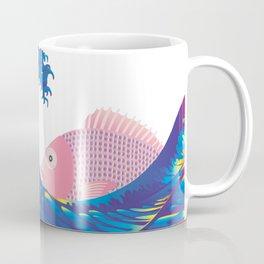 Hokusai Rainbow & Jpanese Snapper  Coffee Mug