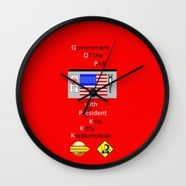 G. O. P. with President Kleptomaniac Wall Clock