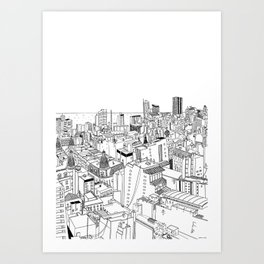 Rooftops of Buenos Aires Art Print