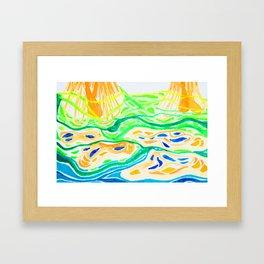 Thailand Mangrove Flow Framed Art Print
