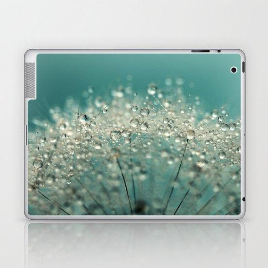 Cyan Sparkles Laptop & iPad Skin