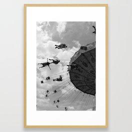Swings (vertical) Framed Art Print