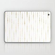 NYC Nights Gold Polka Dot Stripes Laptop & iPad Skin