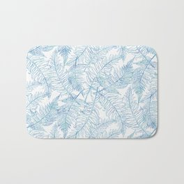 Fern Silhouette Blue Bath Mat