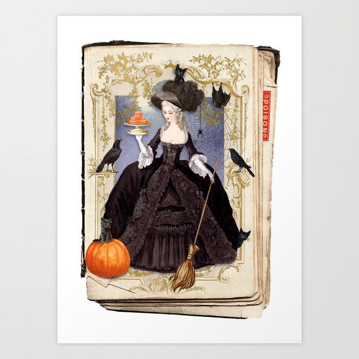 Halloween Witch Pumpkin Macarons Art Print