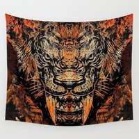 tooth Wall Tapestries featuring Saber Tooth by Zandonai