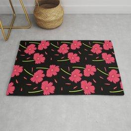 Dark Florals- Pink Rug