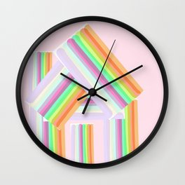 Striped House Wall Clock