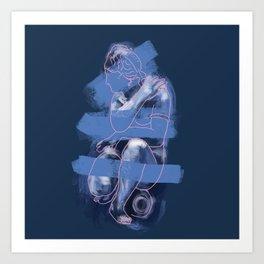 Crouching Venus Art Print