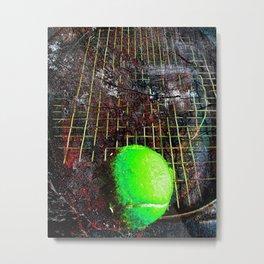 Tennis art print work vs 10 Metal Print