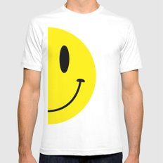 Half Smile (Left) Mens Fitted Tee White MEDIUM