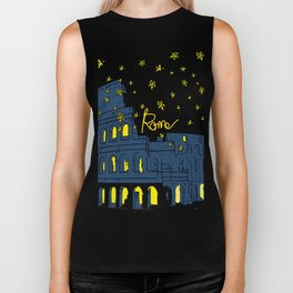 Rome Italy Colosseum Starry night Biker Tank