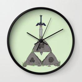 Sword in the TriStone Wall Clock