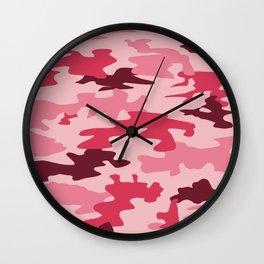 Camouflage Print Pattern - Pinks & Purples Wall Clock