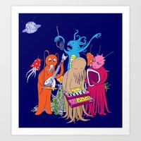 space jam Art Prints featuring Space Jam by Morbid Illusion