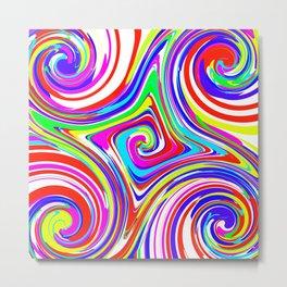 Five Swirls of Color 2 Metal Print
