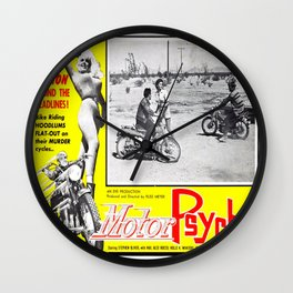 Motor Psycho Wall Clock