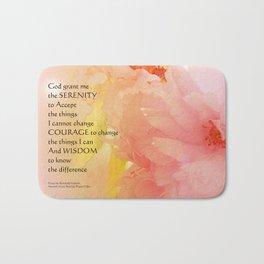 Serenity Prayer Cherry Blossoms  Bath Mat