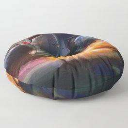 Grey Fox Floor Pillow