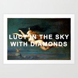Lucy in La Nuit Art Print