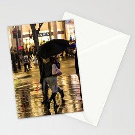Rainy Night on Oxford Street, London Stationery Cards