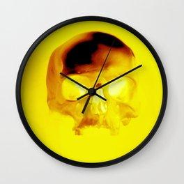 Yellow Skull Wall Clock