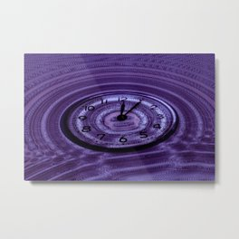 Hands of Time Purple Rippling Water Art Motif Metal Print