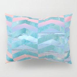Seafoam Sunset -Wide Chevrons Pillow Sham