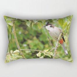 Red-Whiskered Bulbul -- 2 Rectangular Pillow