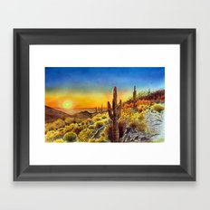 Arizona's Sunset Framed Art Print