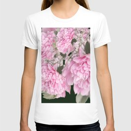Pink Bouquet On A Black Background  #society6 #buyart T-shirt