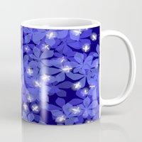 fireflies Mugs featuring Fireflies by Heleen van Buul