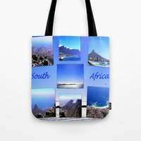 south africa Tote Bags featuring South Africa Landscape by Art-Motiva